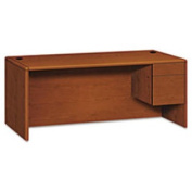10700 Series Single 3/4-Right Pedestal Desk 72w X 36d X 29-1/2h Henna Cherry By