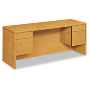 10500 Series Kneespace Credenza With 3/4-Height Pedestals 72w X 24d Harvest By