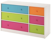 Applegate Enchanted Pine Storage Chest with 6 Multiple Colour Fabric Bins