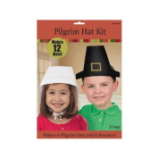 Thanksgiving Pilgrim Hat Craft Kit - Makes 12 Pilgrim Hats