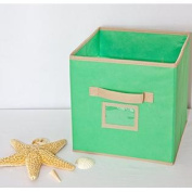Seaside Home Decor - Collapsible Storage Bins in Sea Glass Green. Perfect fit for cubed shelving, fabric drawers will ke