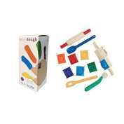Eco-kids Eco-dough (5 Containers of 120ml) and Clay Tool Set