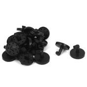 Black Plastic Clothes Coat Belt Keys Hanging Wall Door Mount Hook Hanger 20pcs