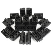7mm Mounting Hole Cabinet Door Ball Butt Reinforced Plastic Hinges Black 20pcs