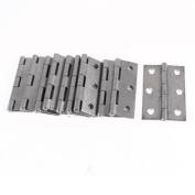 10 Pcs 63mm x 17mm Grey Cabinet Drawer Door Butt Hinge Fixing Tool