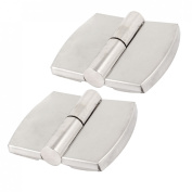 2 Pcs Door Cupboard Silver Tone Stainless Steel Right Hand Lift Off Hinge