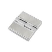 60mm Length Stainless Steel Silver Tone Door Cabinet Hinge