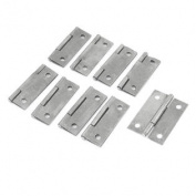 "9 Pcs Home 50mm 2"" Length Metallic Cabinet Drawer Door Butt Hinges"