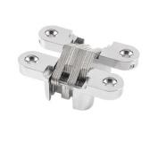 Furniture Silver Tone Metal 61mm Length Cross Hinge for Folding Slideing Door