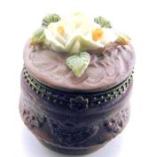 Garden Flowers Floral Resin Hinged Trinket Box
