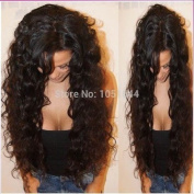 Virgin Brazilian Hair Human Hair Wigs Curly Full Lace Wig & Front Lace Wig for Black Women 150% Density (