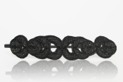 Womens Fashion Headband. Beautiful Black Gatsby Flapper 1920's Rhinestone and Beaded Headband. Adjustable Band to Fit Any Head. Comes with Look Sheet on All the Different Ways to Wear Including the Inspired Great Gatsby 20's Style