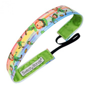 Sweaty Bands Fitness Headband - 2.5cm Wide Press Your Luck Green