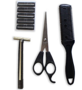 ToolUSA Traveller's Personal Hygiene Set For Cutting, Shaving And Trimming Hair