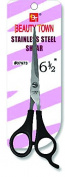 Beauty Town Stainless Steel Shear - Plastic coated Handle - 17cm