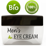 Natural Eye Cream for Men - Best Mens Treatment for Puffiness - Dark Circles and Wrinkles with Calendula and Sesame - Anti Ageing Benefits and USA Made