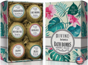 Bath Bombs by Divine Botanics Large and Lush balls with organic and natural ingredients including Moisturising Oils Shea Butter and Essential Oils Made in USA - Unique Valentine's Day gift
