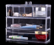 Acrylic Cosmetic Organiser Makeup Brushes Lipstick Holder 1173-1*** 3 Tiers Set
