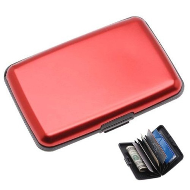 TOOGOO(R) Wallet Credit Card Holder RFID Blocking - Red Colour