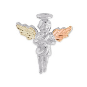 Black Hills 12k Tri-colour Gold over Silver Angel Pin