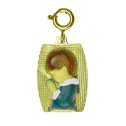 14k Yellow Gold Praying Boy Charm