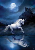 (Price/pack)AN32 Moonlight Unicorn Card - 6 Pack