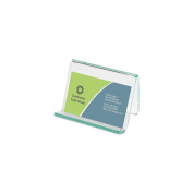 Lorell Acrylic Hint Of Green Business Card Holder 035255806572