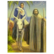 Trimmerry Mary Joseph & Baby Jesus on a Donkey Christian Christmas Cards
