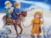 Trimmerry Child Shepherds Going to Meet Baby Jesus Christian Christmas Cards
