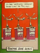 Paper Magic Funny Reindeer Game Show Christmas Cards Santa Jeopardy