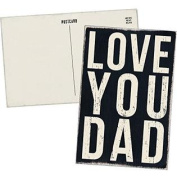 LOVE YOU DAD - Mailable Wooden Greeting Card for Birthdays, Anniversaries, Special Occasions or Just Because