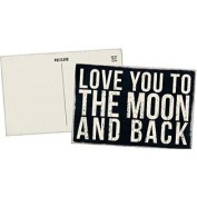 Love You to the Moon and Back - Mailable Wooden Greeting Card for Birthdays, Anniversaries, Weddings, and Special Occasions
