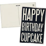 Happy Birthday Cupcake - Mailable Wooden Greeting Card for Birthdays, Anniversaries, Weddings, and Special Occasions