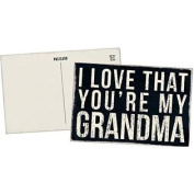 I Love That You're My Grandma - Mailable Wooden Greeting Card