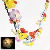 2.7m Lighted Tropical Flower Lei Garland Hawaiian Luau Wedding Decor 50 Lights