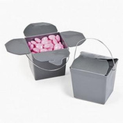 Lot of 12 Silver Mini Chinese Take Out Wedding Favour Boxes
