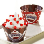 Birthday Express 224427 Sock Monkey Red Reversible Cupcake Wrappers