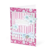 Textured Impressions Embossing Folder with Stamp - Stripes & Frames Set by Hero Arts