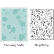 Textured Impressions Embossing Folder with Stamp - Flowers & Vines Set by Hero Arts