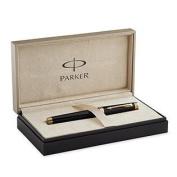 Parker Premier Rollerball Pen, Deep Black Lacquer with Gold Trim
