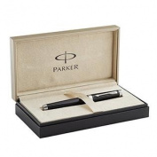 Parker Premier Rollerball Pen, Deep Black Lacquer with Silver Trim