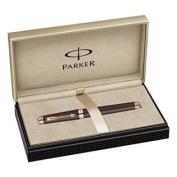 Parker Premier Soft Brown Lacquer Medium Point Rollerball Pen