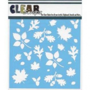 Clear Scraps Stencils 15cm x 15cm -Fall Leaves Background