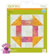 GO! Big 30cm Churn Dash Fabric Cutting Die