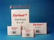 (Price/box)Zip Seal ZSP-46 Vinyl Pouches, 10cm x 15cm , Plain