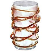JOZEFINA ATELIER Crystal Shiny Vase, Clear Amber