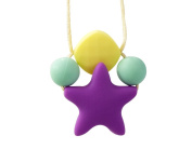 Stimtastic Chewable Silicone Star Pendant Necklace Nontoxic BPA and Phthalate Free, Lilac