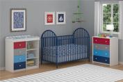 Cosco Kids Furniture Kaleidoscope 4 Drawer Dresser, Classic/White Stipple