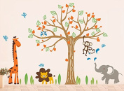 "Pop Decors ""Happy Zoo"" Beautiful Wall Stickers for Kids"