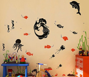 "Pop Decors ""Sea World"" Beautiful Wall Stickers for Kids Rooms"
